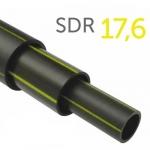 Труба полиэтиленовая ПНД газовая ПЭ-100 SDR17,6